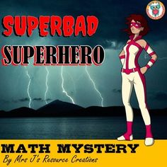 Free Superhero Math Mystery: Differentiated Bundle for Grades 1-6
