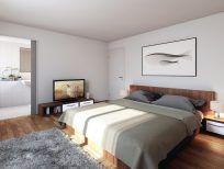 STOMEO Architektur Visualisierung - Zürich Bed, Furniture, Home Decor, Architecture Visualization, Real Estates, Floor Layout, Bed Room, Decoration Home, Stream Bed