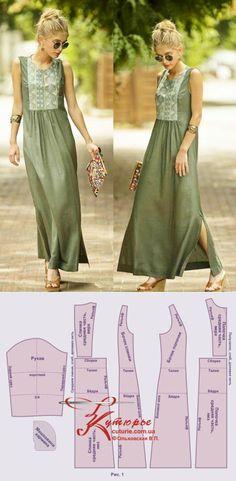 Clothing Patterns, Dress Patterns, Sewing Patterns, Sewing Clothes, Diy Clothes, Clothes For Women, Fashion Sewing, Boho Fashion, Womens Fashion