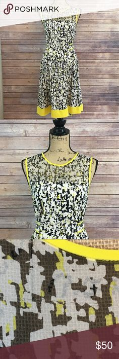 Kate Spade Dress Size 4 Kate Spade Dress Black White and Yellow Small Thread Pull on upper Top (Picture 3) No other signs of wear or fading kate spade Dresses