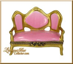 Victorian Sofa with Gold Trim