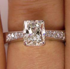 GIA 1.42ct Estate Vintage Radiant Cut Diamond by TreasurlybyDima