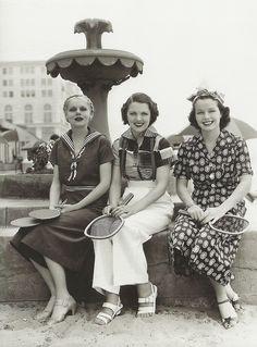 June Travis, Marie Wilson & Carol Hughes at Warner Bros. Studios <3 1936