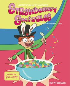 Rick & Morty-Exclusive Rick & Morty Strawberry Smiggles Cereal