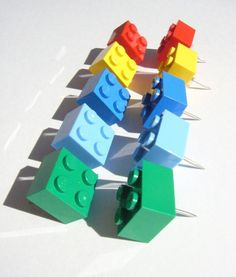 Build up your cork board with these Lego thumbtacks