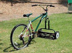 #Bicicleta cortadora de pasto.  ¡Yo quiero una!