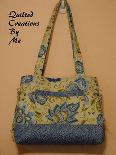 Quilted Handbag Purse Tote Bag  Bow Tuck by QuiltedCreationsByMe, $43.00