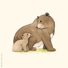 Woodland nursery Bear print forest animal Bear von joojoo auf Etsy
