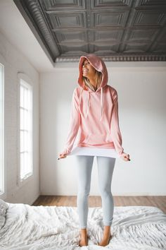 White 13.1 Tank + Sweet Stripe Leggings + Ballet Pink Signature Hoodie | @albionfit