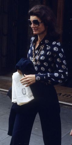 Jackie O |  Print Blouse & Chic Trousers.