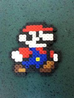 Handmade NES Mario in perler beads by PerlPop on Etsy
