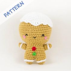 Ginger the Gingerbread Man Crochet Pattern