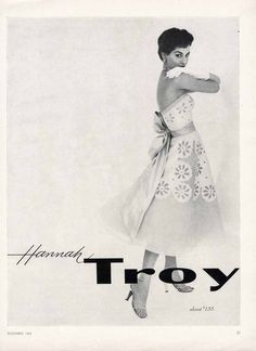 Hannah Troy Print Advertisement / December 1953 / $7.99