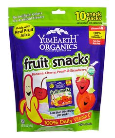Another great find on #zulily! Ten-Piece Organic Fruit Snack Pack - Set of Three #zulilyfinds
