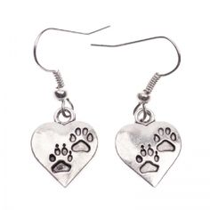 Dog paw earrings Dog Paws, Dog Tag Necklace, Valentines Day, Earrings, Dogs, Jewelry, Valentine's Day Diy, Ear Rings, Stud Earrings