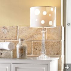 Perfect lamp for the bathroom counter ... Grandin Road
