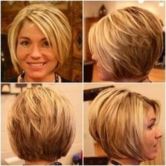 Here are 15 astonishing short bob haircuts for pretty women, from Short-Haircut: The long bob hairstyle is getting more and more popular among women including celebrities. Bob hairstyles are great…More Bob Haircuts For Women, Short Bob Haircuts, Short Hair Cuts For Women, Short Hair Styles, Summer Haircuts, Popular Haircuts, Stacked Bob Hairstyles, Long Bob Hairstyles, Hairstyles 2016