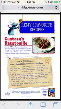 Gusteau's Ratatouille Recipe!