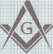 FREE MASON Graphghan Pattern - via @Craftsy