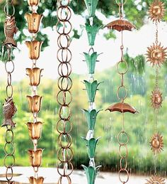 diy rain chain for the yard.