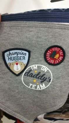 Boys applique badges #baby #clothing