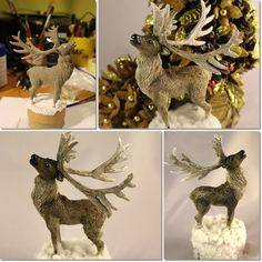 Polymer clay reindeer