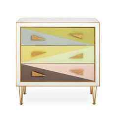 Jonathan Adler Harlequin Three-Drawer Chest