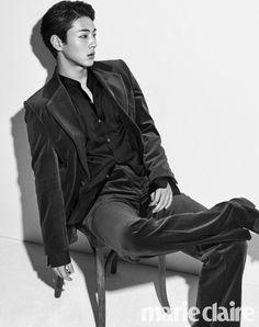 South Korean actor Ji Soo Poses in black and White for Marie Claire Magazine Park Hae Jin, Park Hyung, Park Seo Joon, Joon Hyuk, Lee Joon, Asian Actors, Korean Actors, Korean Idols, Ji Soo Actor