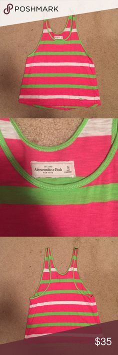 Abercrombie & Fitch tank Brand new without tags! Is a little too big for my liking, it's very loose and flowy! Would totally got someone who is normally a size large. Leave an offer in the comments and I will lower to get you discounted shipping 😊 Abercrombie & Fitch Tops Tank Tops