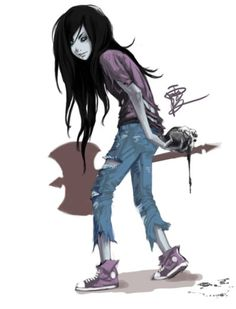 Marceline the Vampire Queen, Adventure Time Cartoon Adventure Time, Adventure Time Marceline, Adventure Time Art, Marceline And Princess Bubblegum, Finn The Human, Vampire Queen, Jake The Dogs, Character Inspiration, Character Design