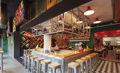 Things just got a little spicier in the thriving Amsterdam enclave of Old West. Chef Julius Jaspers has teamed up with design studio Concrete to create a bold and brash Asian street food joint dubbed Happy Happy Joy Joy, and it's as loose and playful...