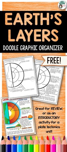 FREE Layers of the Earth Doodle Graphic Organizer! Great for review or as an introductory activity - includes answer key!