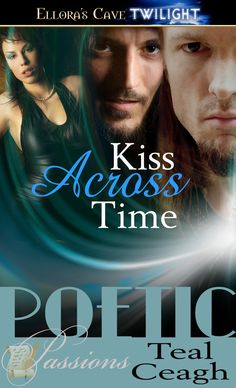Kiss Across Time.  Book 1 in the Kiss Across Time Series. MMF erotic vampire time travel romance. First Edition cover. http://tracycooperposey.com/books/kiss-across-time-series/kiss-across-time/