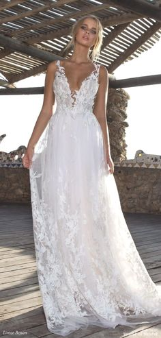 Lace wedding dress. Brides dream about finding the ideal wedding, but for this they need the perfect bridal wear, with the bridesmaid's dresses actually complimenting the brides dress. Here are a variety of tips on wedding dresses. #weddingdress