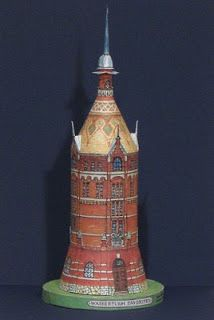 Tektonten Papercraft: Vienna Water Tower Paper Model