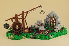 """Medieval contruction site"" by Legopard: Pimped from Flickr"