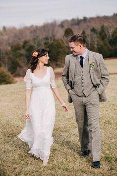 Autumn/Winter three piece wedding suit - photo by Amuse Photography