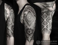 Norse runic tattoo