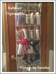 Bathroom organization: This gets a big YES! I want to use clear shoe holders for the bathroom, laundry etc but wouldn't you know I couldn't find clear in the store. We wait...