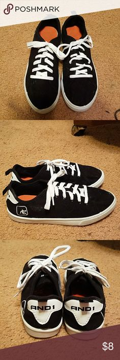New black & white boys youth shoes. Really nice boys youth ANDI shoes. Black & white. My son never wore them. andi Shoes Sneakers