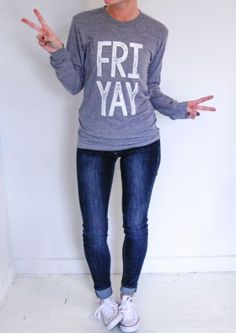 Unisex (true to size).Whether you're a slaveto corporate America,a teacher, a student,or a human, youNEED some FRI YAYin your life. School Shirts, Teacher Shirts, Teacher Humor, Teacher Wardrobe, Teaching Outfits, Teaching Ideas, Teacher Style, Vinyl Shirts, Diy Shirt