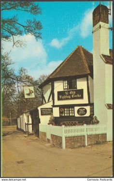 Ancient Architecture ~Ye Old Fighting Cocks St Albans, Hertfordshire, said to be the oldest pub in the UK, dates from it is thought that there are tunnels running between the Cathedral and the pub's beer cellars which were once used by monks~ British Pub, British History, British Isles, England Uk, London England, Uk Pub, Moraira, Pub Signs, St Albans