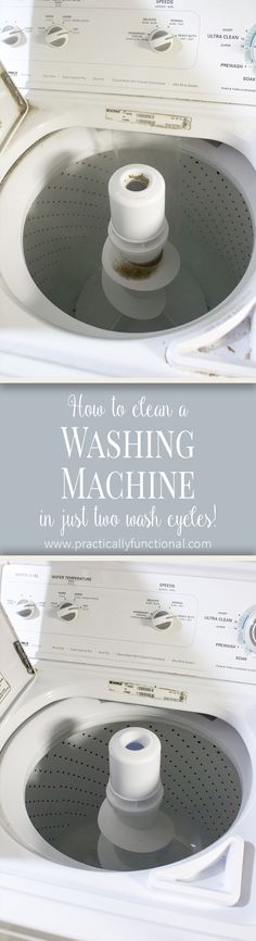 How to clean your washing machine - even if it's not visibly dirty, this will clean soap scum and mineral deposits in the pipes and hoses.