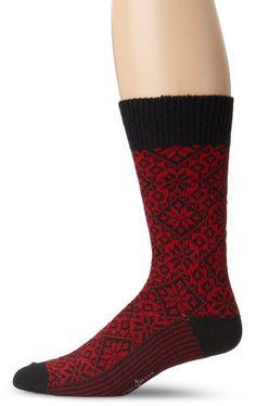 Cole Haan Men's Norwegian Knit Boot Sock, Black/Red, « Shoe Adds for your Closet