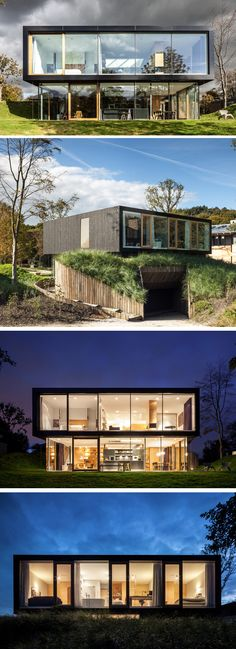 Dutch architects design a new house around a preserved dune landscape New Houses, Building A Container Home, Container Buildings, Container House Plans, Landscaping Around House, Shipping Containers, Shipping Container Homes, Container Design, Interior Architects
