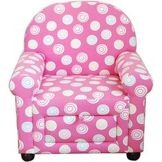 Girls' Accent Chair with Pull-Out Storage, Pink: Kids' & Teen Rooms : Walmart.com