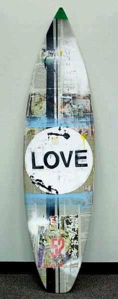 LOVE - Surfboard Art