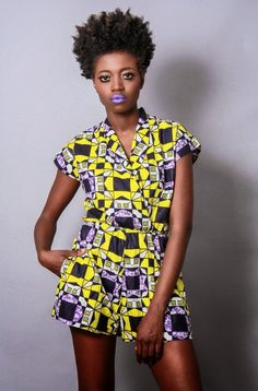 African Prints in Fashion: Right now I love: Jumpsuits  Rompers