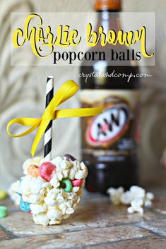 how to make charlie brown popcorn balls