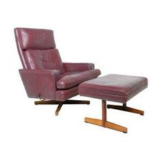 Danish Modern Vatne 807  Lounge Chair & Ottoman